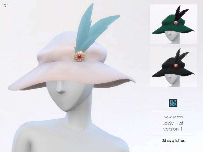 Sims 4 Lady Hat V1 at Elfdor Sims