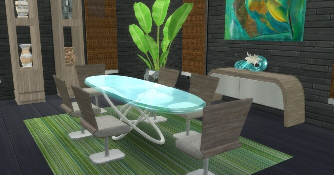 Sims 4 Georgio Dining room at LIZZY SIMS