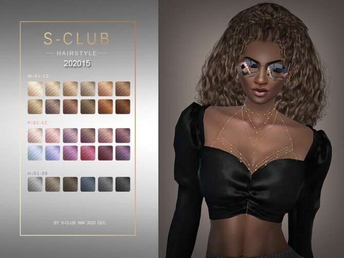 Sims 4 Hair 202015 by S Club WM at TSR