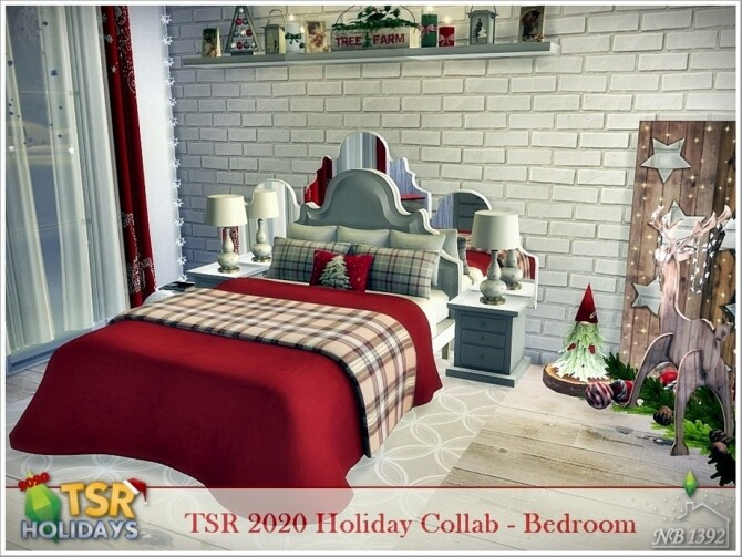 Holiday Wonderland Bedroom by nobody1392
