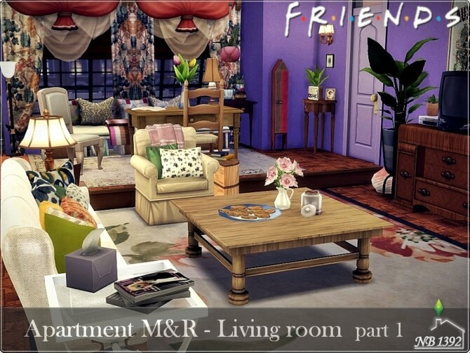 Apartment Living room part 1 Friends by nobody1392