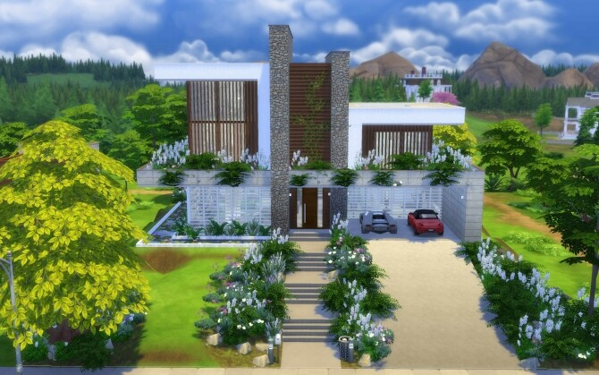Sims 4 Newcrest Modern House by alexiasi at Mod The Sims