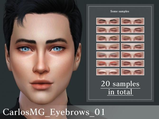 Sims 4 Eyebrows 02 by CarlosMG at TSR