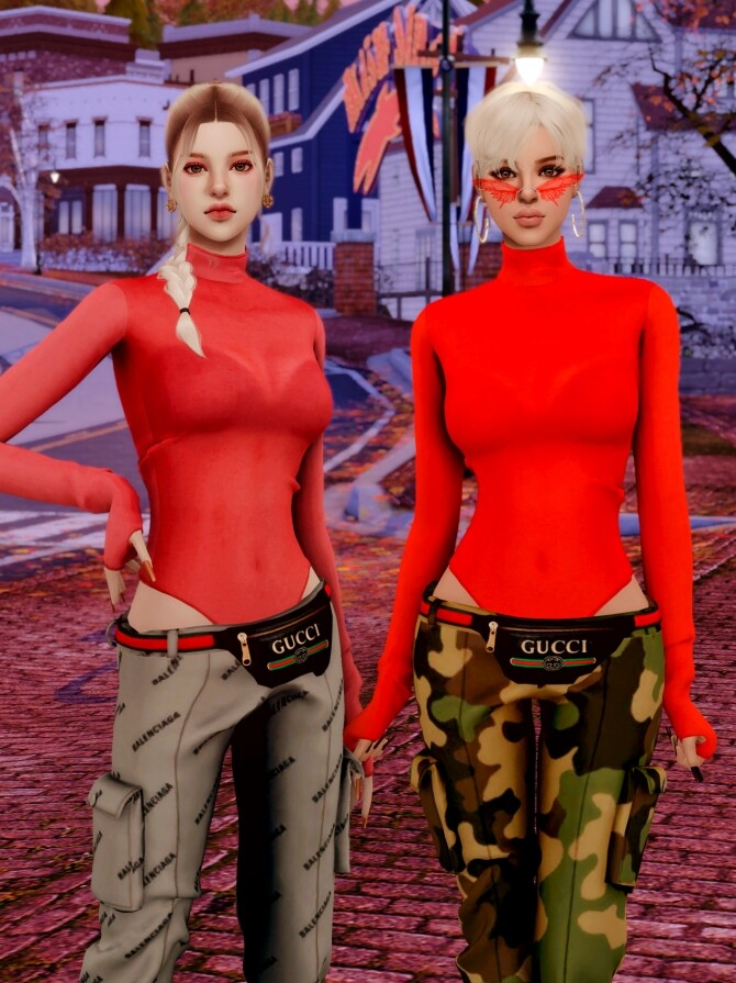 Tight Top & Hipsack & Cargo Pants at RIMINGs image 1472 670x895 Sims 4 Updates