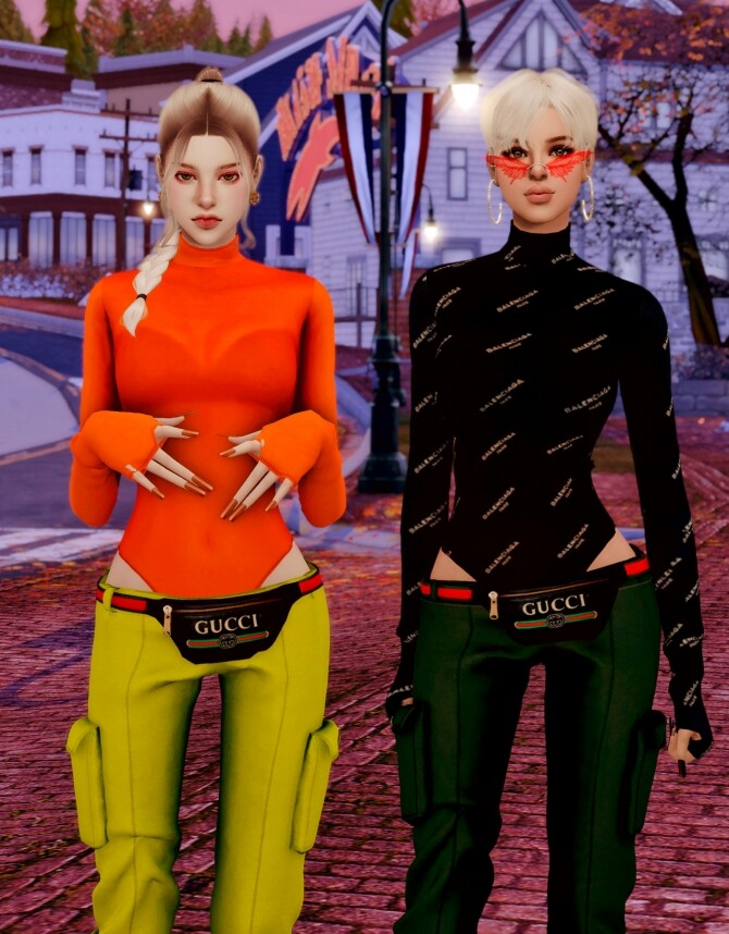 Tight Top & Hipsack & Cargo Pants at RIMINGs image 1492 670x858 Sims 4 Updates