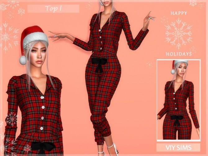 Sims 4 Top I Christmas VI by Viy Sims at TSR