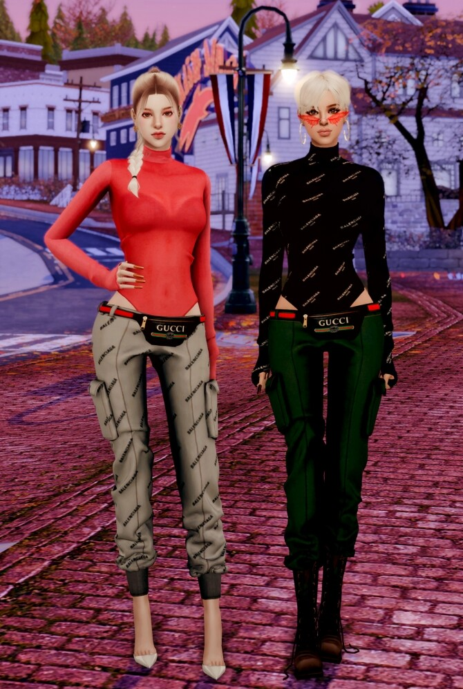 Tight Top & Hipsack & Cargo Pants at RIMINGs image 1502 670x998 Sims 4 Updates