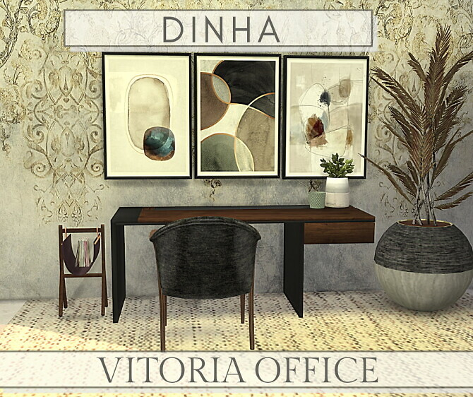 Sims 4 Vitoria Office at Dinha Gamer