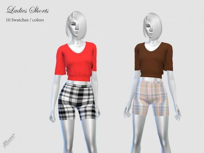 Sims 4 Ladies Shorts by pizazz at TSR