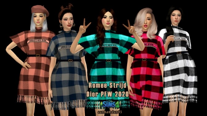 Sims 4 Paris Fashion Week 2020 Short Dress at Aan Hamdan Simmer93