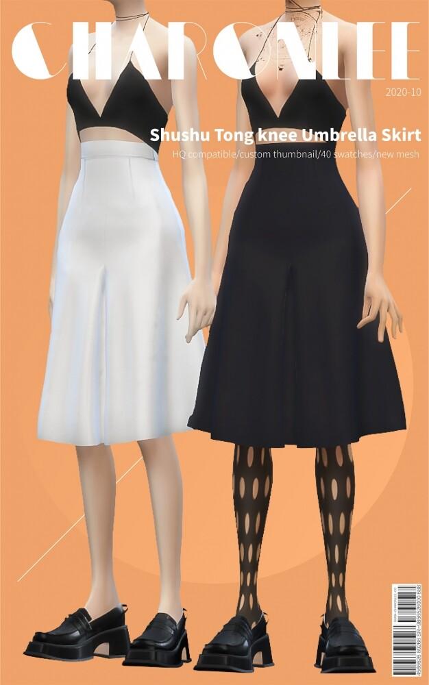 Shushu Tong Knee Umbrella Skirt