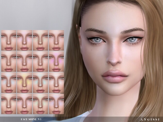 Sims 4 Face Shine N3 by ANGISSI at TSR