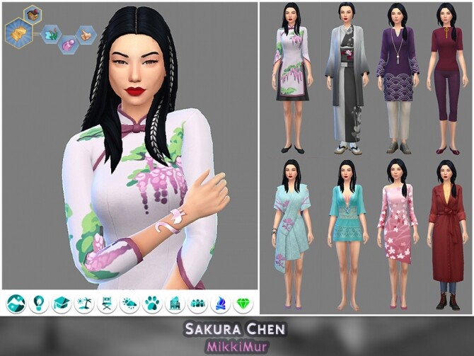 Sims 4 Townies for Mt. Komorebi | Girls at MikkiMur