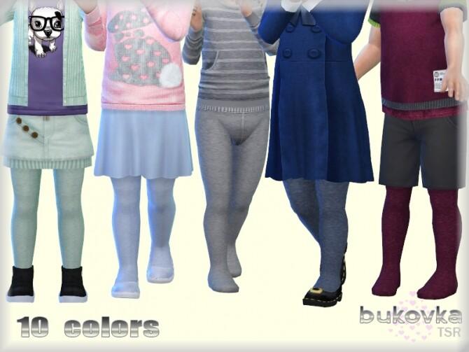 Sims 4 Melange Tights by bukovka at TSR