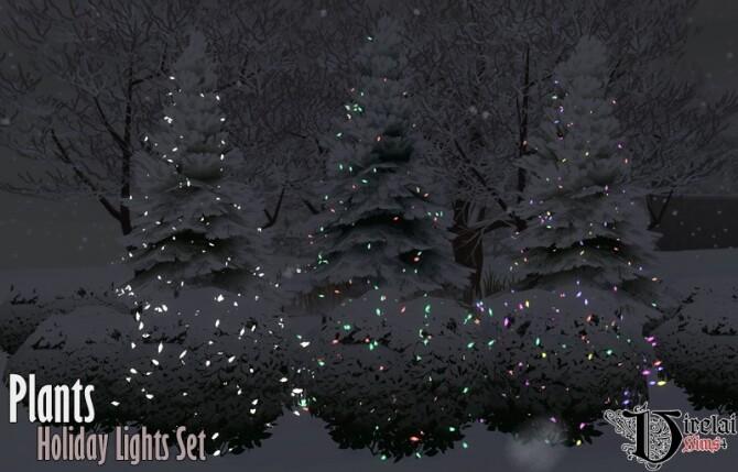 Sims 4 Plants Holiday Lights Set at Virelai