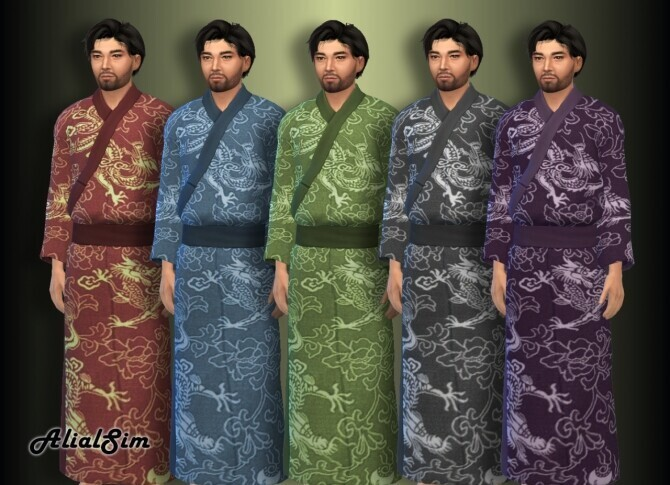 Sims 4 Asian outfit at Alial Sim
