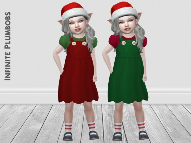 IP Toddler Christmas Dungaree Dress by InfinitePlumbobs