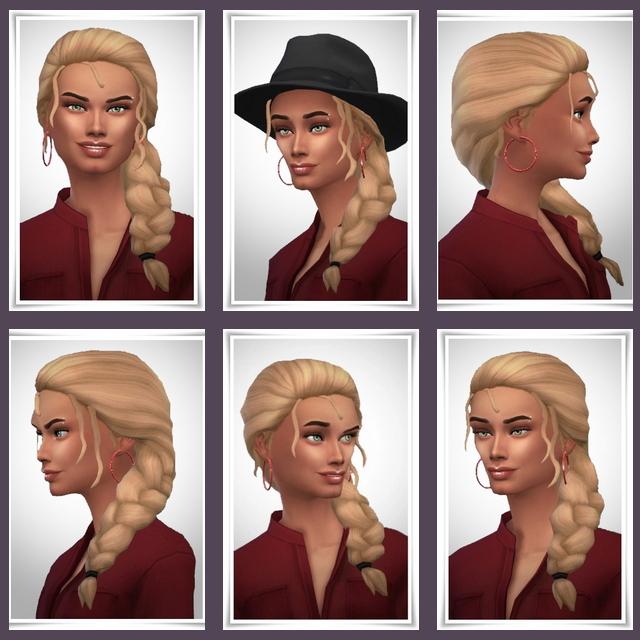 Sims 4 Luciana Hair at Birksches Sims Blog