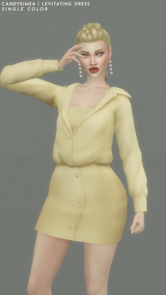 Sims 4 LEVITATING DRESS at Candy Sims 4