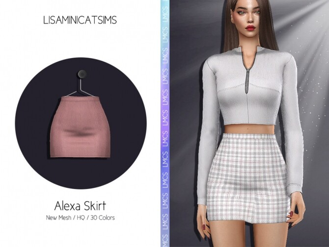 Sims 4 LMCS Alexa Skirt by Lisaminicatsims at TSR