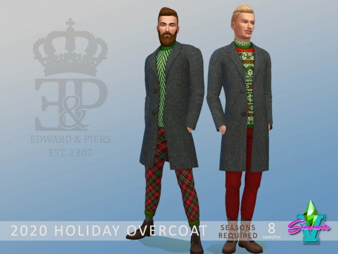 Sims 4 Holiday Overcoat by SimmieV at TSR