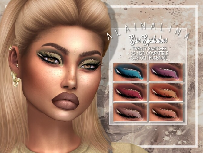 Sims 4 Erin Eyeshadow at AlainaLina