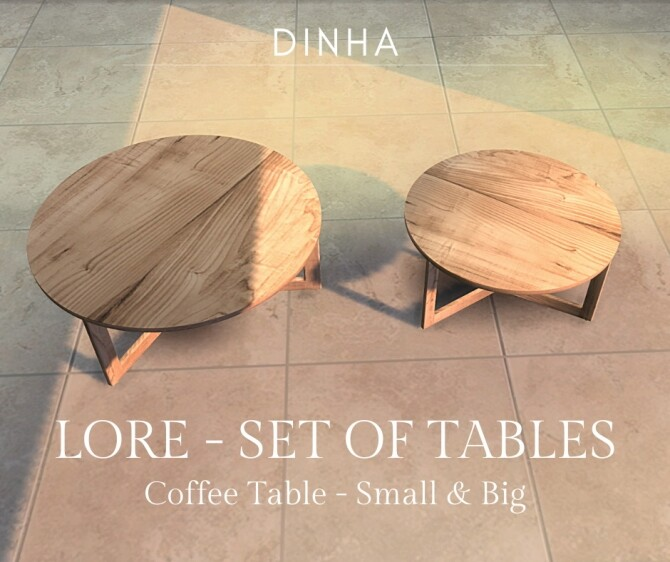 Sims 4 Lore set of tables at Dinha Gamer