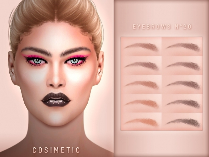 Sims 4 Eyebrows N20 by cosimetic at TSR