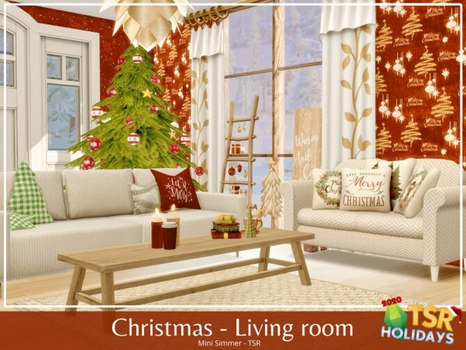 Christmas Living room Holiday Wonderland by Mini Simmer
