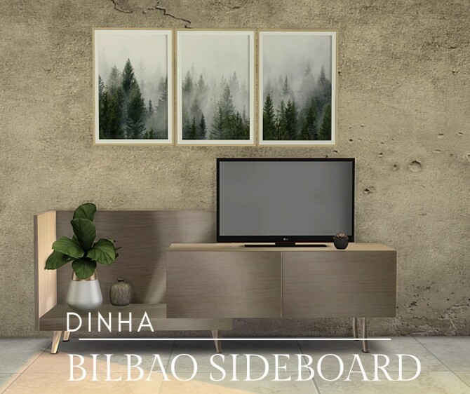 Sims 4 Bilbao Sideboard at Dinha Gamer