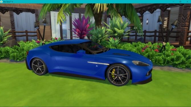 Sims 4 Aston Martin Vanquish Zagato at LorySims