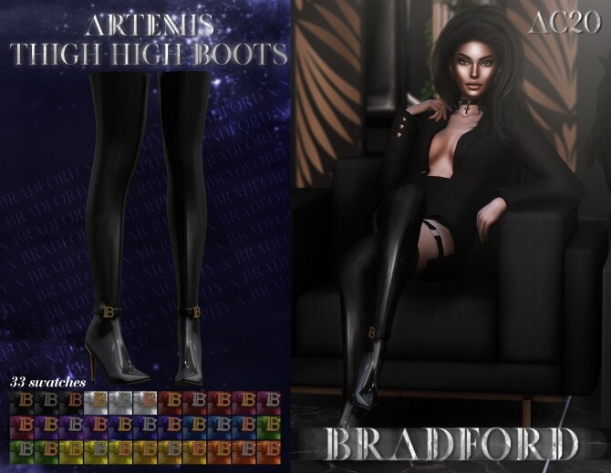 Sims 4 Artemis Thigh High Boots at MURPHY