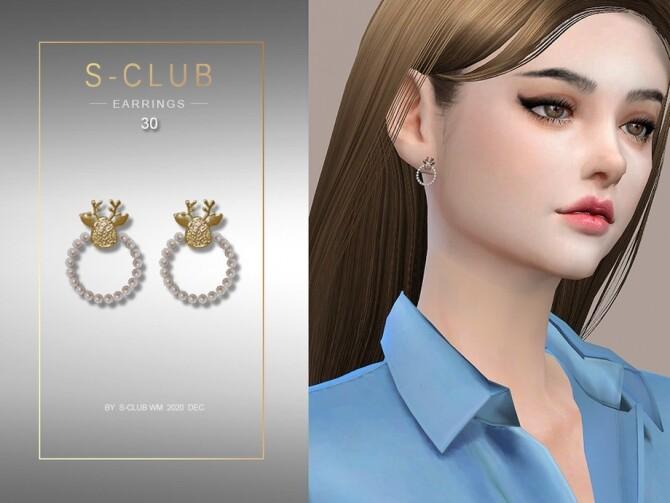 Sims 4 EARRINGS 202030 by S Club WM at TSR