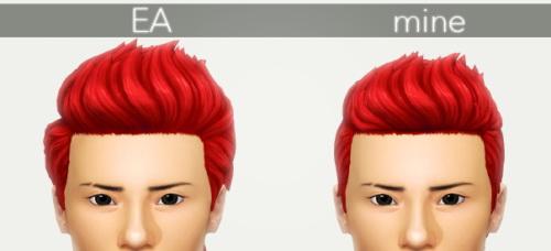 Sims 4 Glenn Hair at KotCatMeow