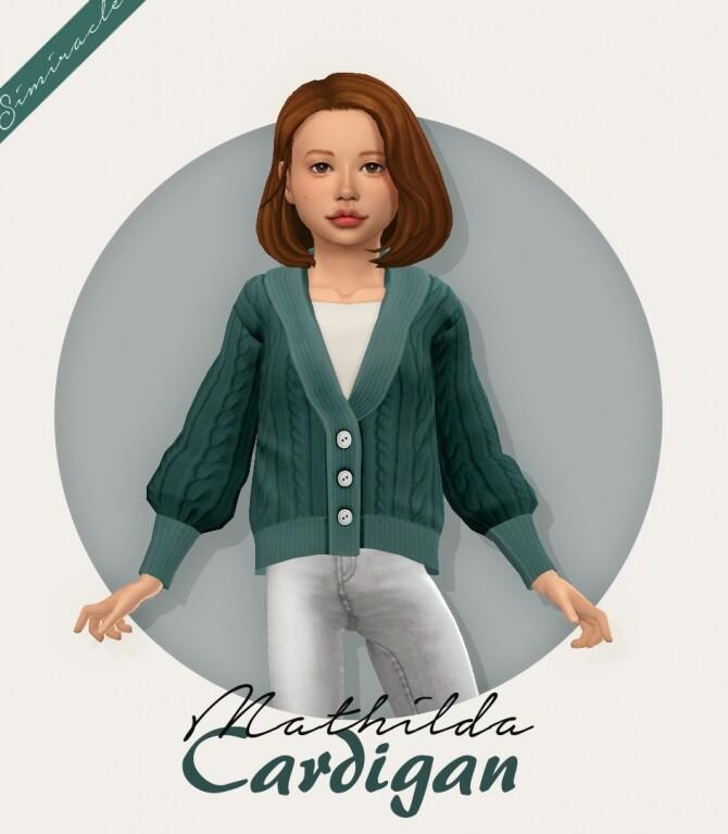 Sims 4 Mathilda Cardigan Kids Version at Simiracle