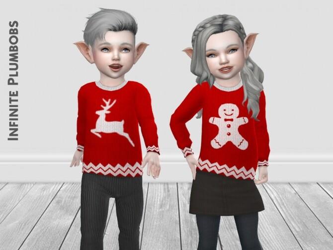 IP Toddler Christmas Silhouette Jumper by InfinitePlumbobs