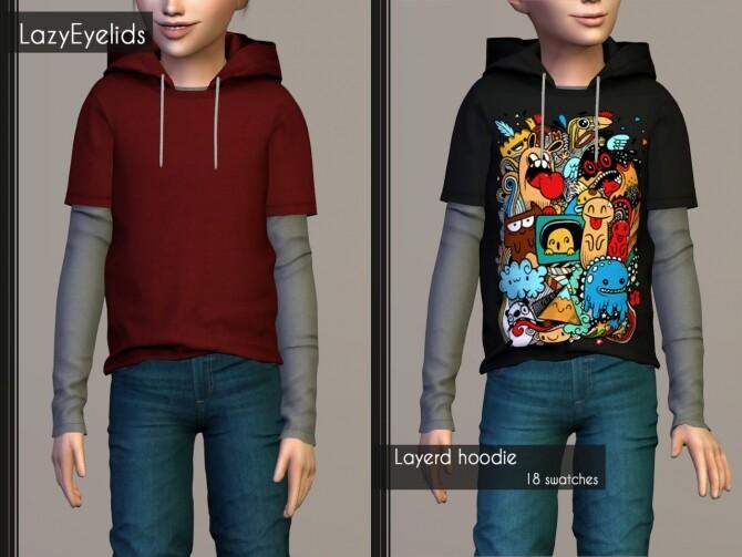 Layerd hoodie  Short jeans  High neck tanktop