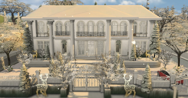 American Mansion for Christmas
