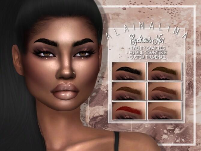 Sims 4 Eyebrows No7 at AlainaLina