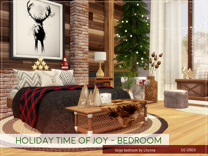 Sims 4 Holiday Time of Joy Bedroom by Lhonna at TSR