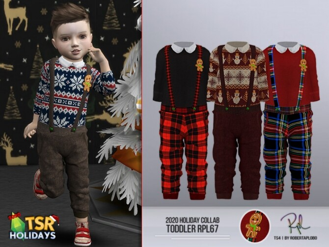 Sims 4 Holiday Wonderland Toddler RPL67 Outfit by RobertaPLobo at TSR