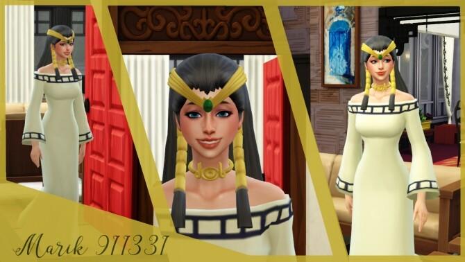 Ishizu Ishtar set: hair, outfit, necklace & tiara at Marik911331 image 182 670x378 Sims 4 Updates