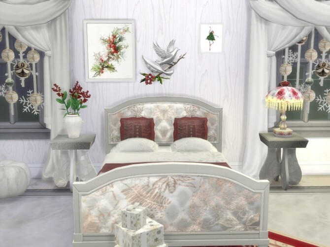 Sims 4 All Is Calm (All Is Bright) bedroom set by seimar8 at TSR