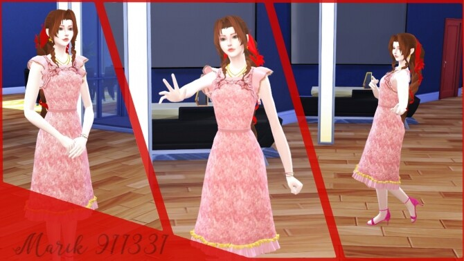 Sims 4 Aerith dress №2 at Marik911331