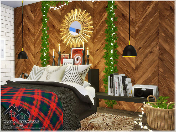 Sims 4 VAIRA Bedroom by marychabb at TSR