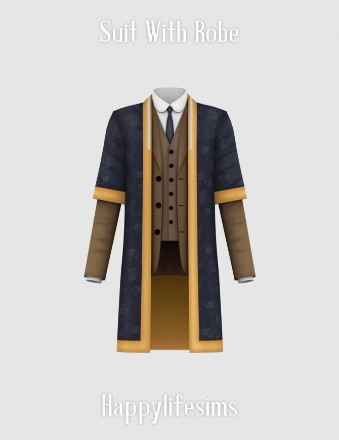 Sims 4 Suit With Robe at Happy Life Sims