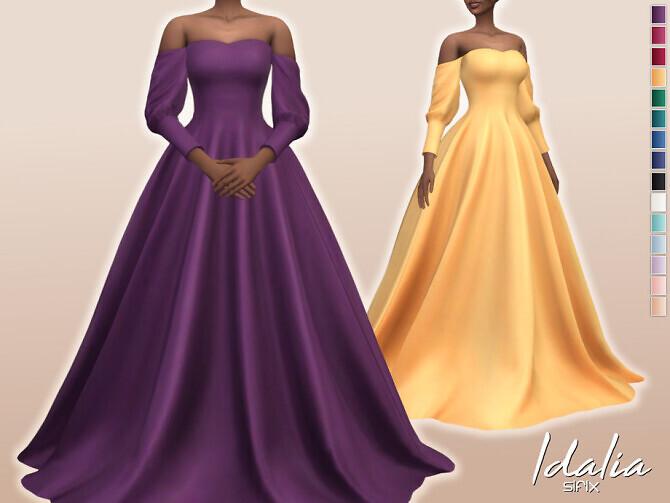 Sims 4 Idalia Dress by Sifix at TSR