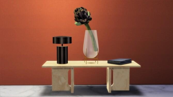 Sims 4 Column Table Lamp at Meinkatz Creations
