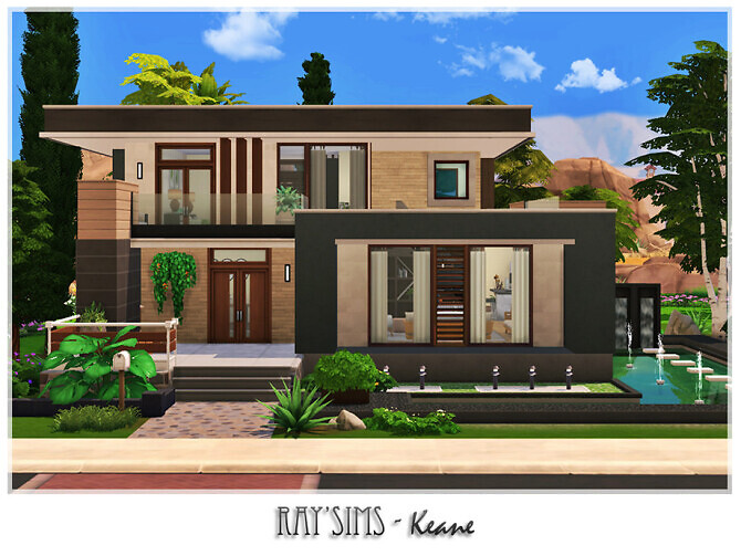 Sims 4 Keane house by Ray Sims at TSR