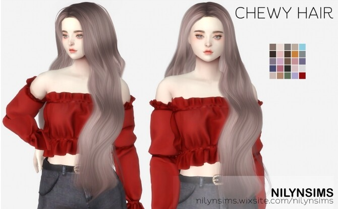 Sims 4 CHEWY HAIR at Nilyn Sims 4